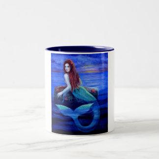 Mermaid's Dinner Two-Tone Coffee Mug
