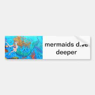 mermaids dive deeper sticker
