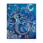 MERMAIDS DRAGONFLY NIGHT POSTCARDS