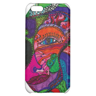 Mermaids , faces, whimsy, tattoo, cover for iPhone 5C