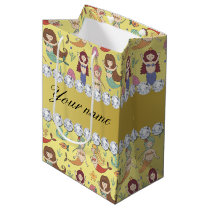 Mermaids Faux Gold Foil Bling Diamonds Medium Gift Bag