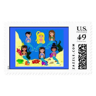 Mermaids from around the World postage Stamp
