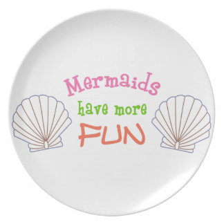 Mermaids Fun Applique Plate