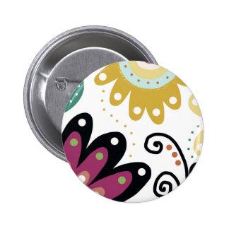 Mermaids Garden Pinback Button