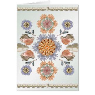 Mermaid's Garden Unique Shell Art Design Card