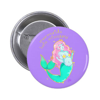Mermaids Hate Misogyny Button Pinback Buttons