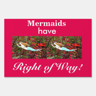 mermaids have right of way sign