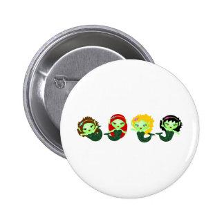 Mermaids II Pinback Buttons