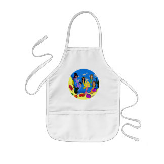 Mermaids in Ocean with Dolphins Apron