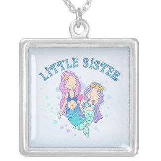 Mermaids Little Sister Square Pendant Necklace
