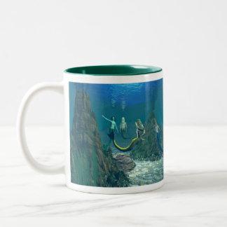 Mermaids Mélange 1 Two-Tone Mug