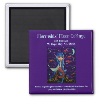 Mermaid's Moon Cottage Business Card Magnet