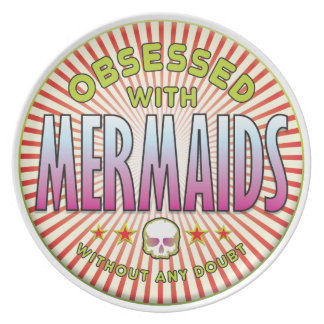 Mermaids Obsessed R Party Plate