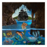 MERMAIDS OF THE PIRATE CAVE POSTER