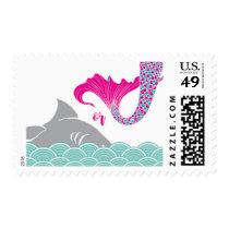 Mermaids or Sharks Postage