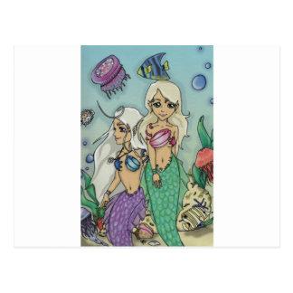mermaids postcard