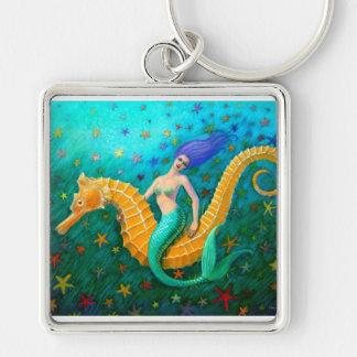 Mermaid's Ride- Seahorse Keychain