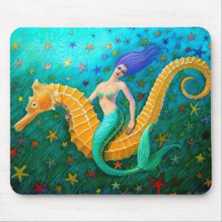 Mermaid's Ride- Seahorse Mouse Pad