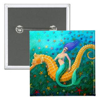 Mermaid's Ride- Seahorse Pin