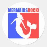 Mermaids Rock! #2 Classic Round Sticker