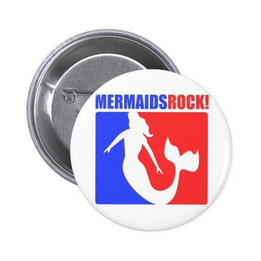 Mermaids Rock! #2 Pinback Button