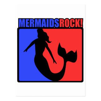 Mermaids Rock! Postcard