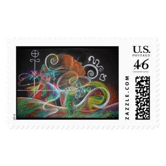 mermaid's storm postage stamp