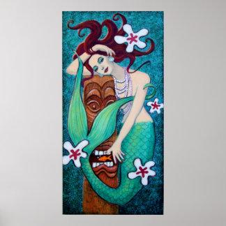 Mermaid's Tiki God Posters