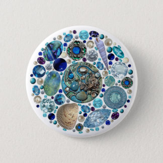 Mermaid's Treasure 1 Pinback Button