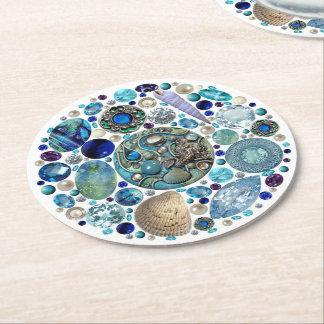 Mermaid's Treasure 1 Round Paper Coaster