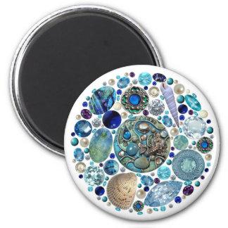 Mermaid's Treasure 2 Inch Round Magnet