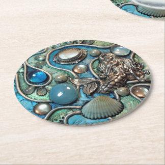 Mermaid's Treasure 2 Round Paper Coaster