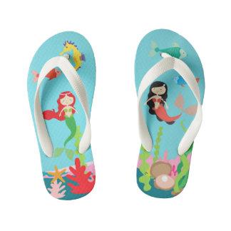 Mermaids Undersea Life Kid's Flip Flops