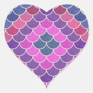 Mermaids VI Heart Sticker