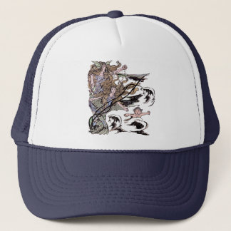 Mermaids Vintage Victorian Illustration Trucker Hat