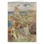 Mermaids with Sea Green Hair Greeting Card