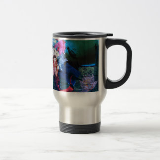 Mermaig Goddess Art Collage With Penguins 15 Oz Stainless Steel Travel Mug