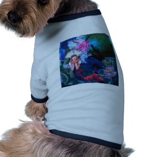 Mermaig Goddess Art Collage With Penguins Dog Clothes