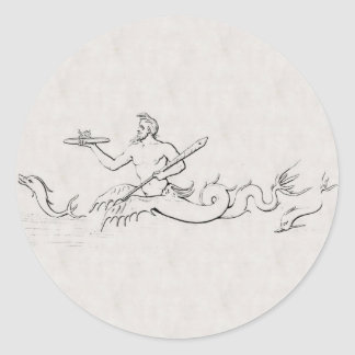 Merman Classic Round Sticker