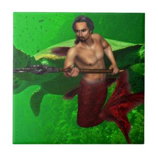 Merman con la teja de la tortuga de mar