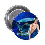 Merman con la tortuga de mar pins