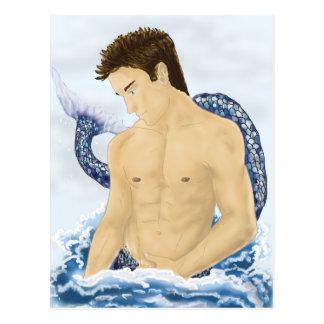 Merman de la fantasía postales