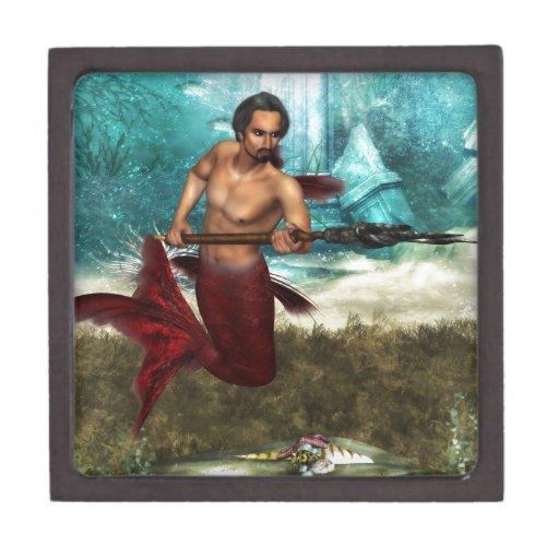 Merman de Poseidon Cajas De Regalo De Calidad