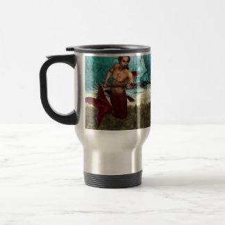 Merman de Poseidon Taza De Viaje De Acero Inoxidable