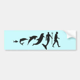 Merman Evolution Bumper Sticker