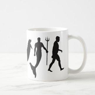 Merman Evolution Classic White Coffee Mug