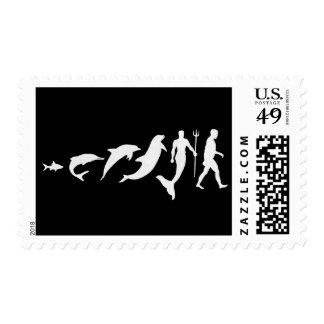 Merman Evolution Postage Stamp