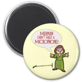 Merman Microphone Magnet
