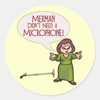 Merman/Microphone Stickers