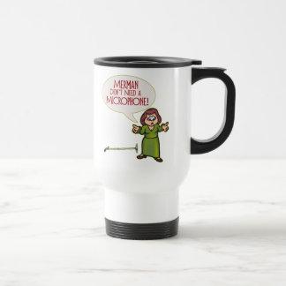 Merman/Microphone Travel Mug